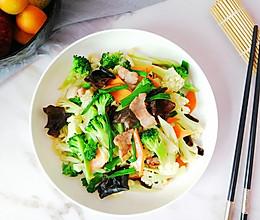 #今天吃什么# 小炒双花菜,色彩丰富营养全的做法