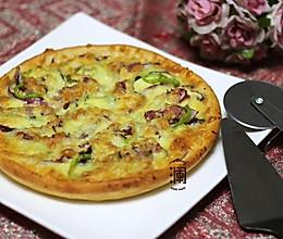 家庭版蔬菜培根披萨(9寸)的做法