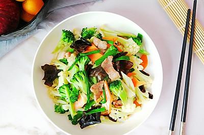 小炒双花菜,色彩丰富营养全