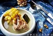 石斛冬瓜玉米脊骨汤的做法