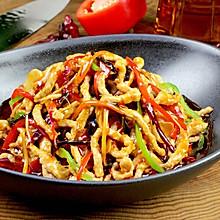 鱼香肉丝#金龙鱼外婆乡小榨菜籽油,最强家乡菜#