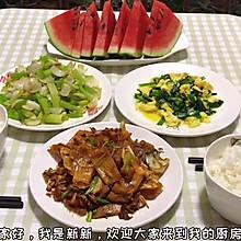 #尽享安心亲子食刻#晚餐时刻 韭菜炒蛋 芹菜炒百合 煎鱼干