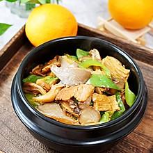 增加肠胃动力的平菇腐竹炒肉片