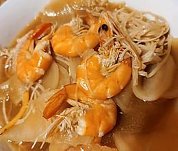 萝卜炖大虾的做法