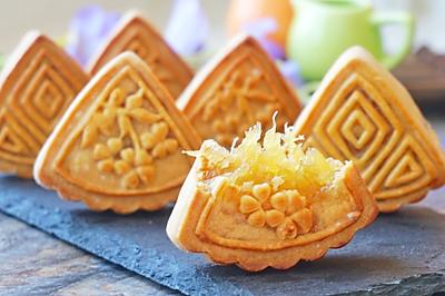 广式凤梨月饼(详细皮馅做法)#手作月饼#