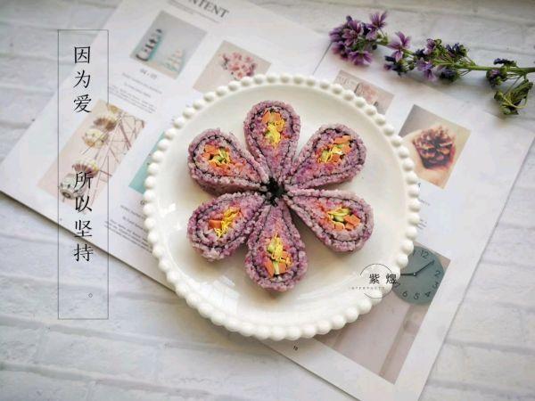 翻转花朵寿司的做法