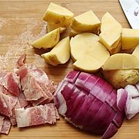 蔬菜培根浓汤的做法图解2