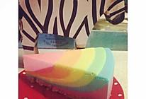彩虹柠檬冻芝士蛋糕的做法