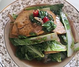 简单小素菜也很下饭!小白菜烧豆腐的做法