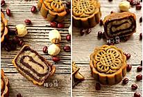 【斑纹豆沙莲蓉月饼】附:自制红豆沙+自制白莲蓉的做法