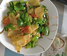 #元宵节美食大赏#青椒土豆片的做法