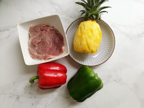 母亲节献礼之菠萝咕噜肉的做法图解1