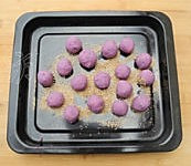 紫薯芝麻饼的做法图解3