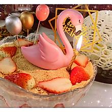 木槺草莓生日蛋糕