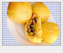 小白菜鸡蛋虾米玉米菜团子的做法