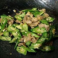 秋葵炒肉片#太太乐鲜鸡汁中式#的做法图解7