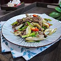 #花10分钟,做一道菜!#大葱炒牛肉的做法图解9