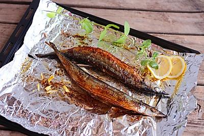 烤秋刀鱼 #美的烤箱#