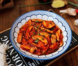 番茄炒香菇的做法