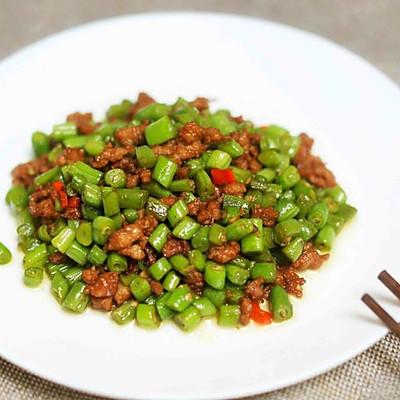 迷迭香:肉末豆角