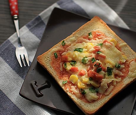 【吐司比萨】——隔夜吐司变华丽早餐
