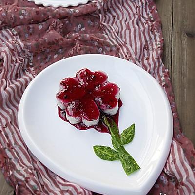 蓝莓山药花