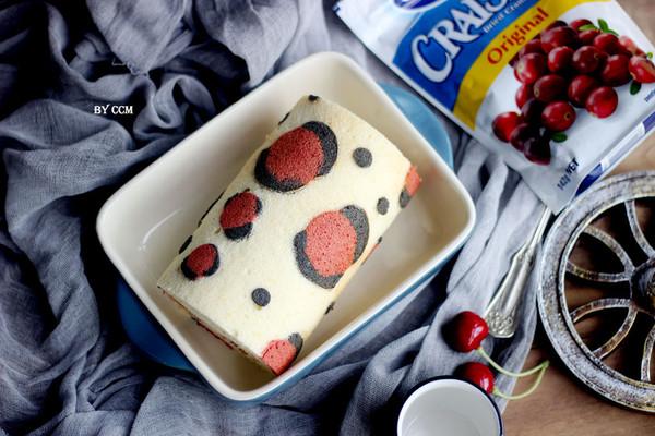 """蔓越莓豹纹奶油卷#享""""美""""味#的做法"""