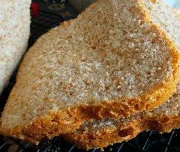 全麦吐司--全麦面包早餐好选择-减肥必备面包机版全麦吐司的做法