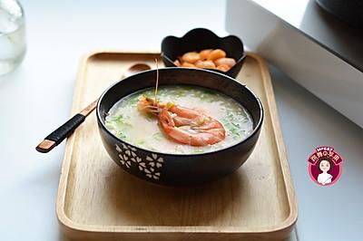 大虾青菜粥
