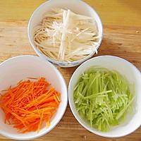 炝拌三丝——菁选酱油试用菜谱的做法图解6