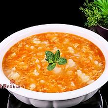 """""""番茄鸡蛋疙瘩汤""""价廉而美味的晚餐,这样做非常好吃"""