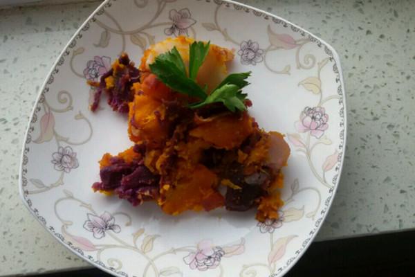 紫薯南瓜的做法