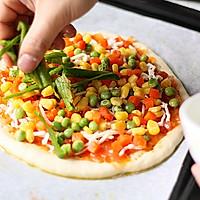 培根杂蔬披萨的做法图解10