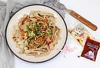 香辣豆腐皮 #丘比沙拉汁#的做法