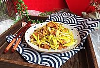 快手小炒—蒜黄炒肉#春天肉菜这样吃#的做法