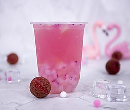 喜茶诗酒系列醉醉粉荔的做法——小兔奔跑奶茶教程的做法