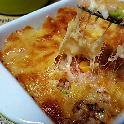 在家就能吃到的美味,宝宝和妈妈一起享用的西式大餐!虾仁什锦焗