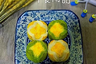 双色椰蓉开口酥(最细致的讲解椰蓉酥,上手就会)