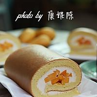 制作蛋糕卷的小窍门【芒果奶油蛋糕卷】的做法图解16
