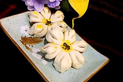 幸福像花儿一样---豆沙酥饼