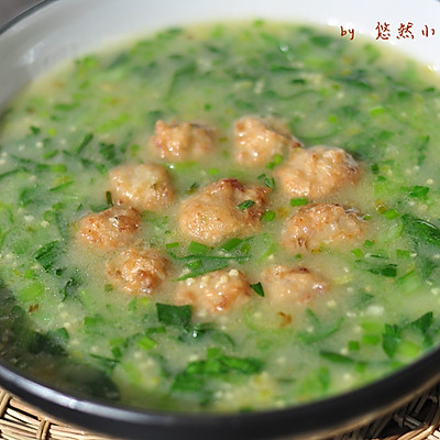 小米肉丸汤