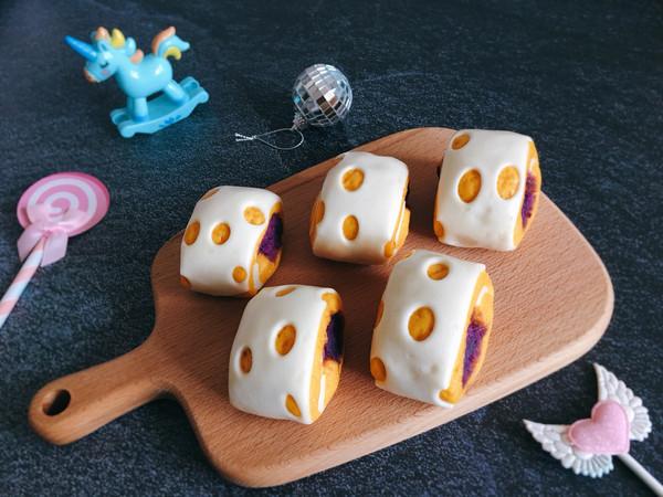 #童年不同样,美食有花样#  花样紫薯卷