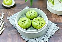 #年味十足的中式面点#翡翠肉包的做法