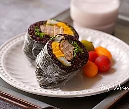 黑米饭团三明治的做法