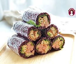 紫糯米油条饭团的做法
