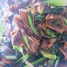灰树花炒油菜(香菇油菜)