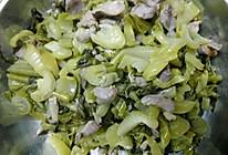 酸菜炒鸡肾的做法