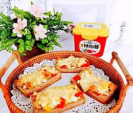 #一勺葱伴侣,成就招牌美味#超级好吃韩式辣椒酱之吐司披萨的做法