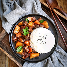 土豆焖牛腩盖饭#秋天怎么吃#