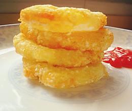 外脆里棉的薯饼~的做法